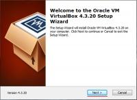 Запускаем программу установки VirtualBox