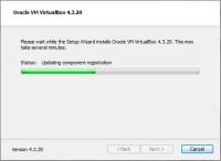 Пргораммы установки VirtualBox выполняет необходимые действия