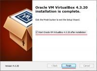 Установка VirtualBox успешно завершена