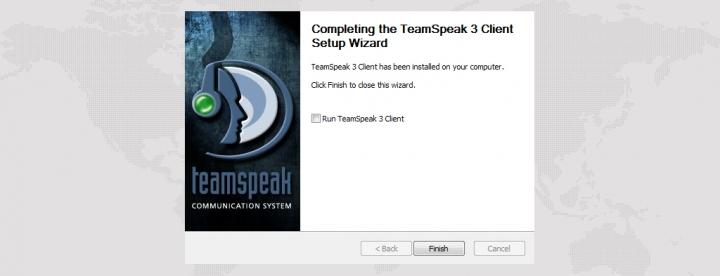 Установка TeamSpeak клиента успешно завершена