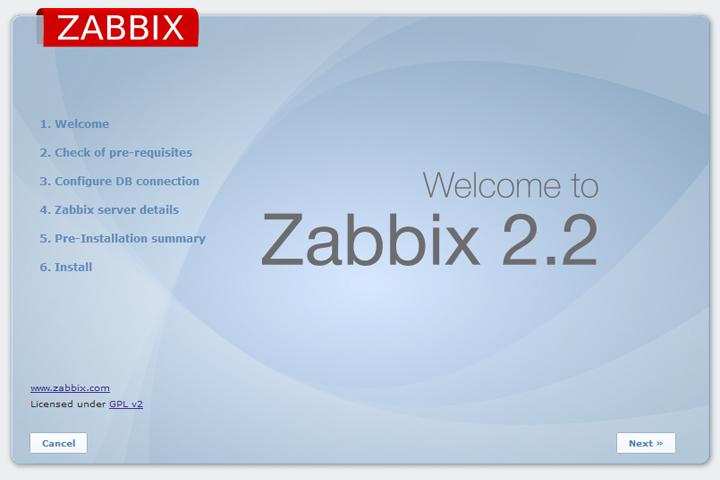 Помошник установки веб интерфейса Zabbix