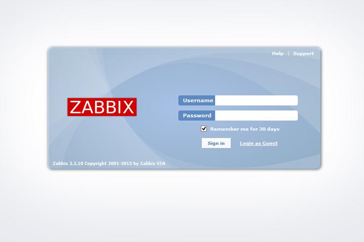 Веб-интерфейс Zabbix готов!